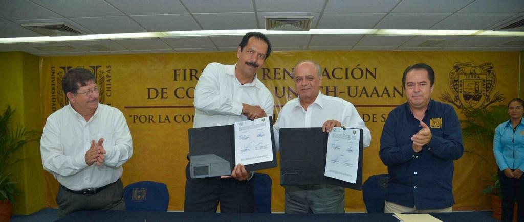 Acuerdan UNACH y la Universidad Autónoma Agraria Antonio