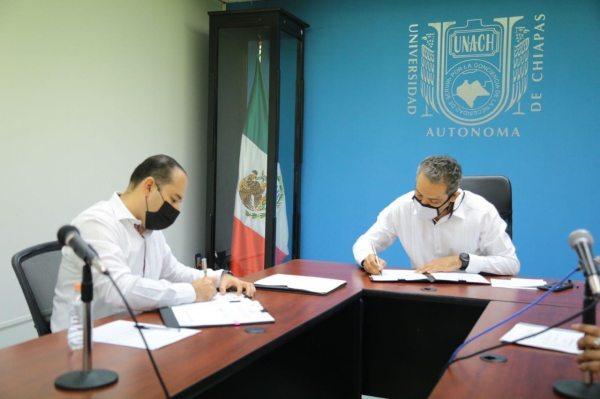 Suscribe UNACH acuerdo de trabajo con el Secretariado Ejecutivo del Sistema Estatal de Seguridad Pública