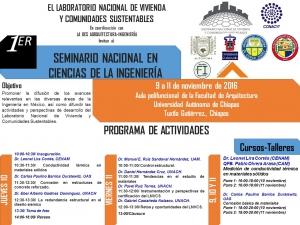 Organiza UNACH el Primer Seminario Nacional en Ciencias de la Ingeniería