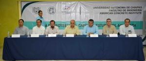 Integran en la UNACH el Capítulo Estudiantil en Chiapas del Instituto Americano del Concreto