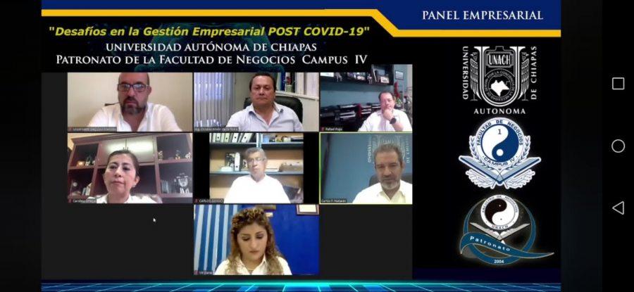 Organizó UNACH Panel Empresarial Desafíos en la Gestión Empresarial POST COVID-19