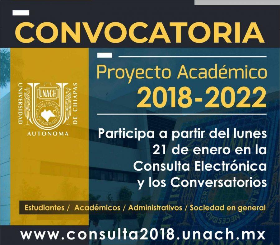 Convoca UNACH a universitarios y sociedad a participar en la formulación del Proyecto Académico 2018-2022